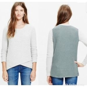 MADEWELL | Pullover Sweater in Colorblock Large